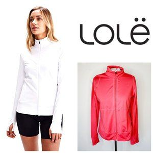 LOLE Coral Pink Zip Up Jacket